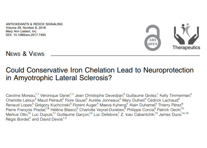 Could Conservative Iron Chelation Lead to Neuroprotection in Amyotrophic Lateral Sclerosis